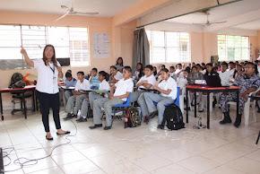 Imparte Policía Estatal taller de prevención  en zona rural de Cosoleacaque