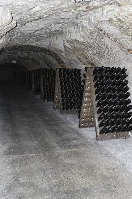 Cave tour at  Moet & Chandon, Epernay, France