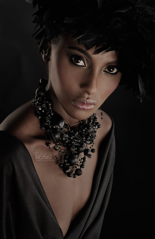 black model in studio modelling beauty shoot by sydney photographer gilbert rossi, gilbert rossi shoots black fashion model, black beauty asha osman shot by fashion photographer gilbert rossi