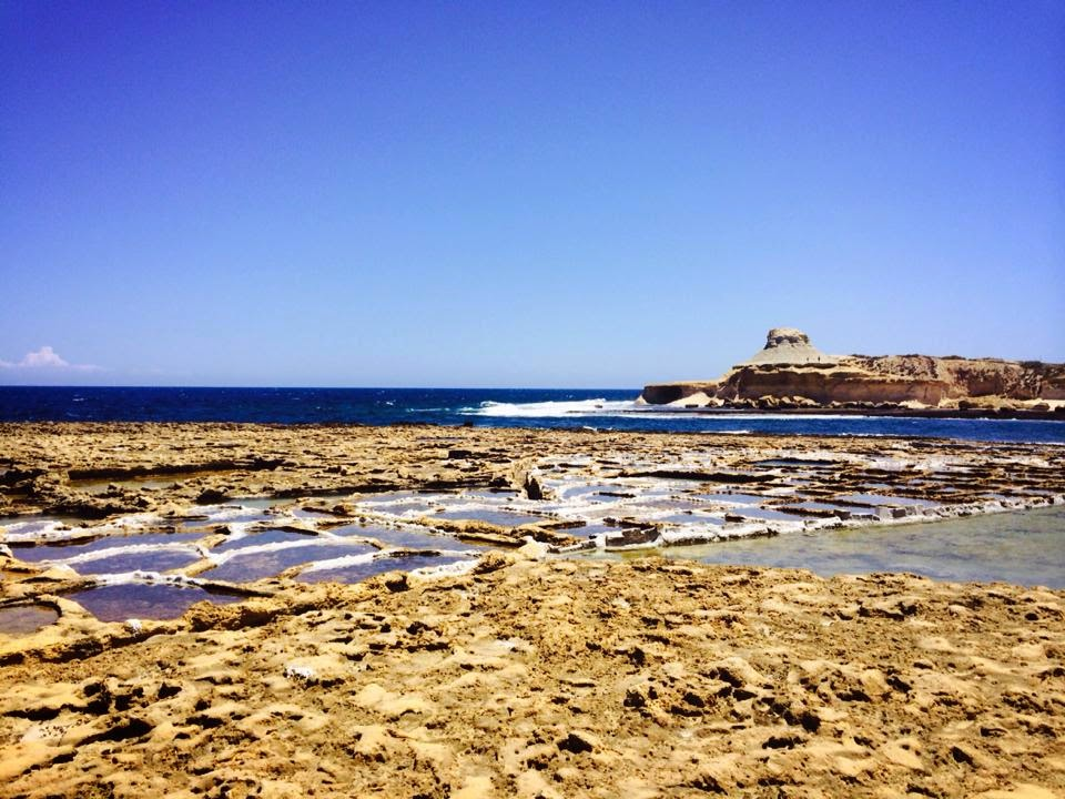 Salt Pans at Gozo, Malta