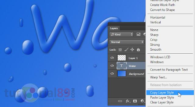 Cara membuat tulisan efek air dengan photoshop