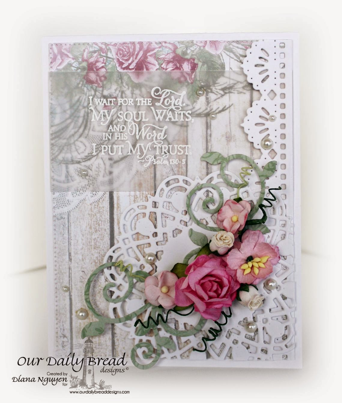 Our Daily Bread Designs, Shabby Rose, Scripture Collection 9, Doily, Fancy Foliage, Beautiful Borders, Designed by Diana Nguyen