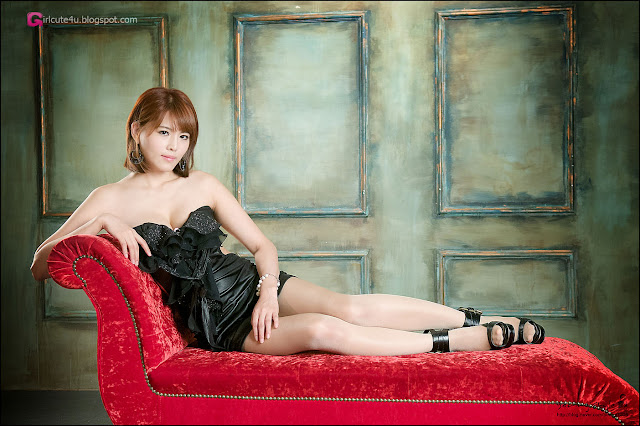 4 Lee Mi Jung in Black-Very cute asian girl - girlcute4u.blogspot.com