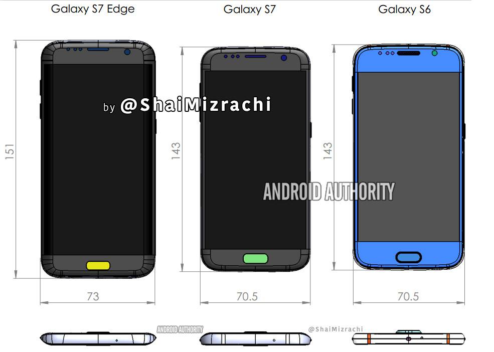 [Leaked[ Samsung Galaxy S7 and Galaxy S7 Edge Dimensions