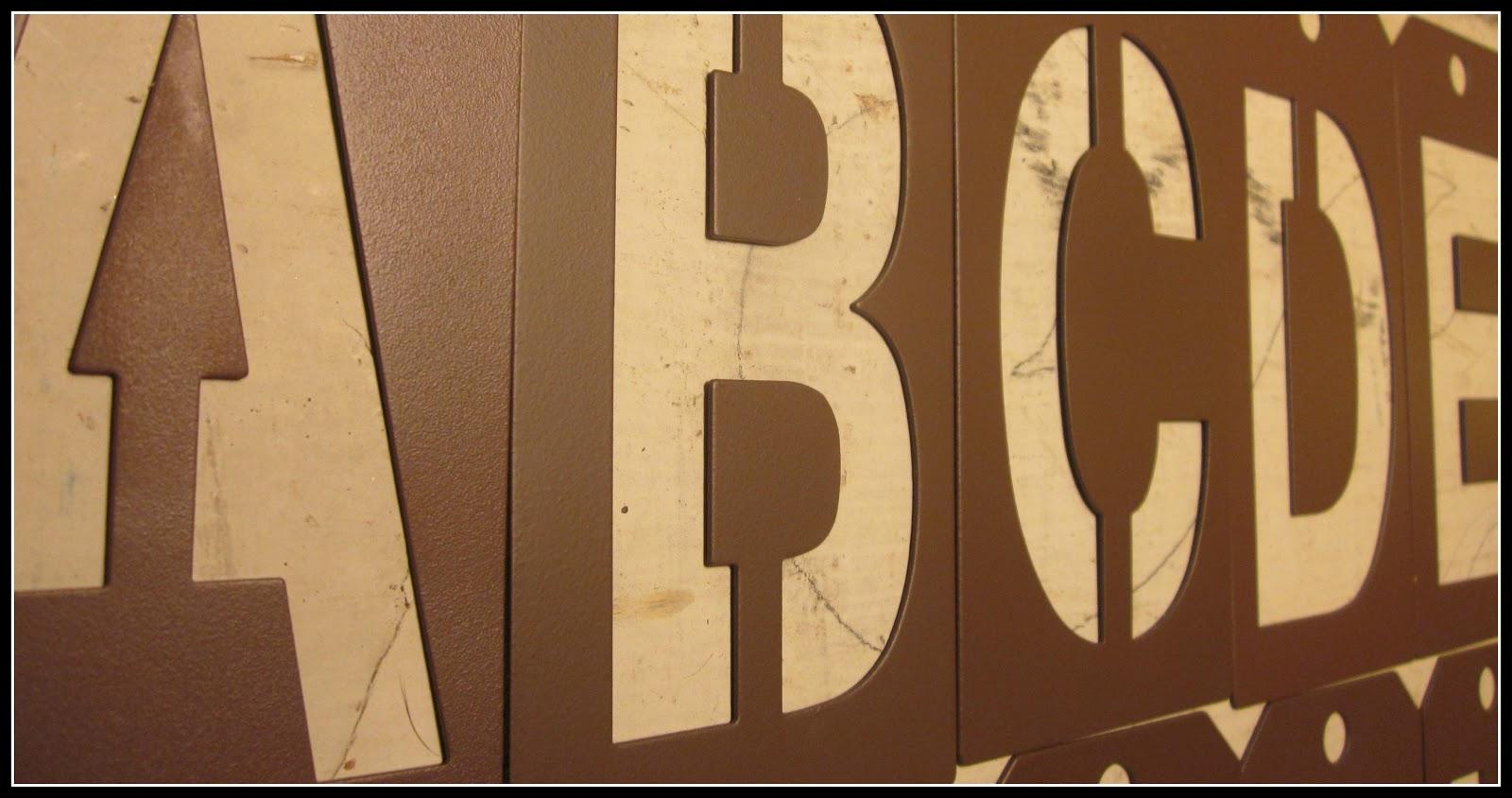 metal stencil alphabet
