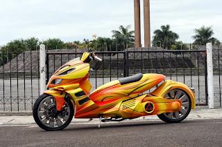 Modifikasi Honda Beat Drag Ceper Airbrush