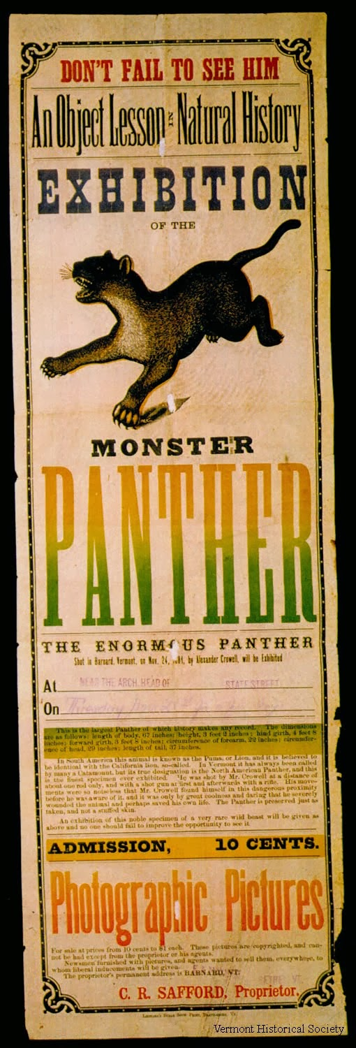 Vermont Historical Society Collection Exhibition Poster of the Barnard Monster
