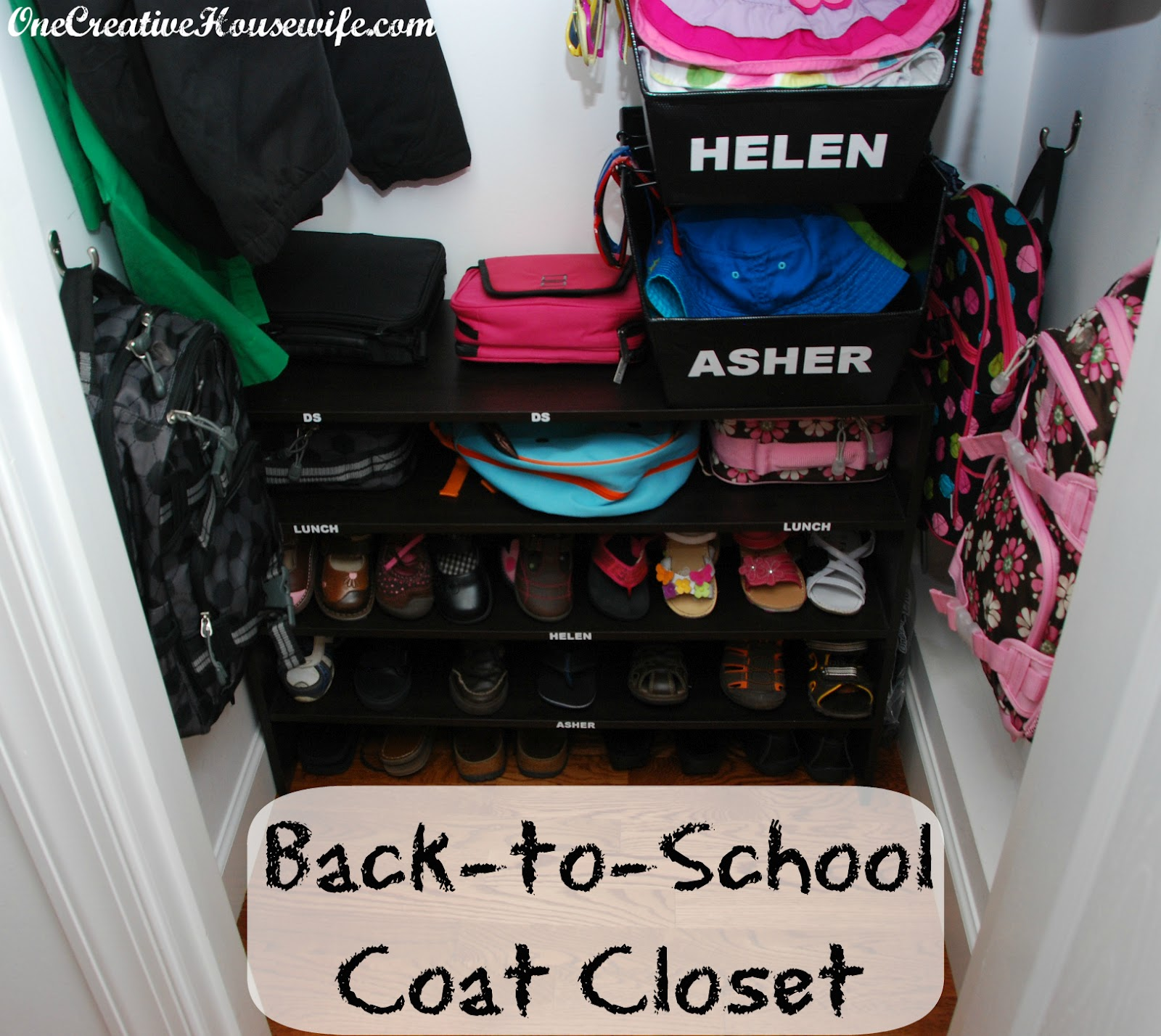 Getting Our Coat Closet Ready For School