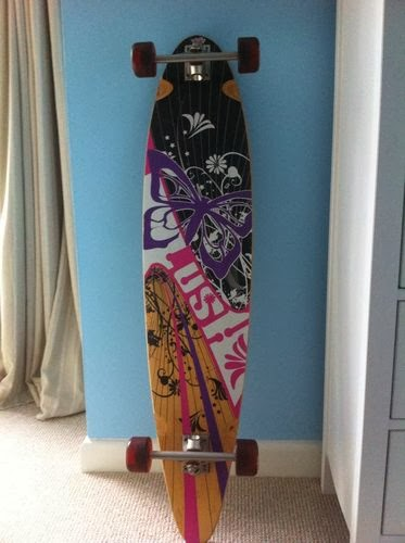 "lush longboard long board 44"" skateboard skate wheels deck flowers girls"