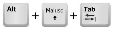 Combinazione di tasti ALT+MAIUSC+TAB