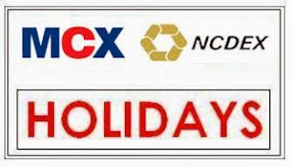 MCX / NCDEX Holiday Schedule 2016
