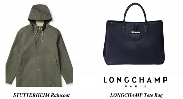 Princess Sofia STUTTERHEIM Raincoat LONGCHAMP Tote Bag