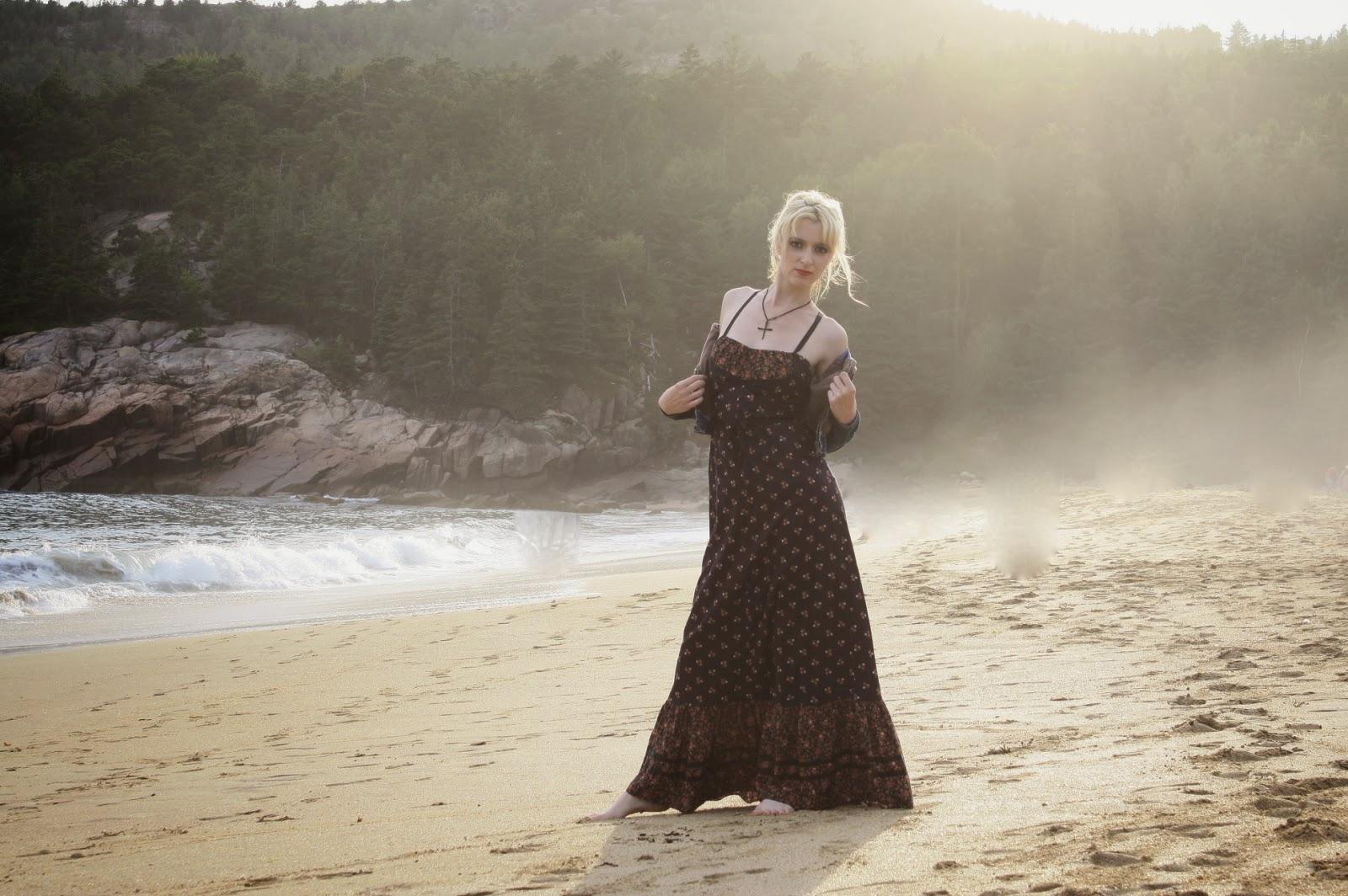 Boho sun dress on beach