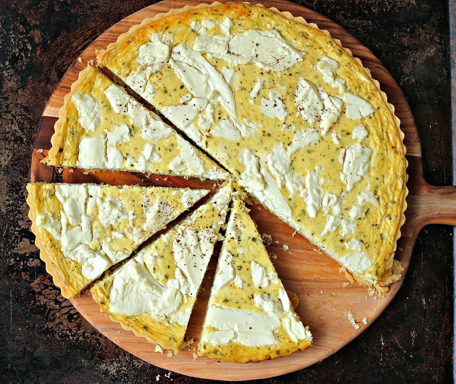 Milk and Honey: Leek, Creme Fraiche and Goat Cheese Tart