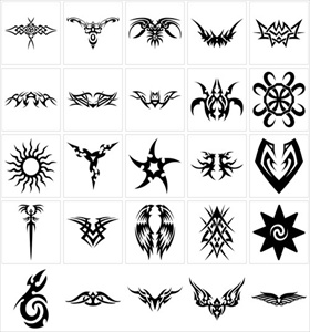 tribal art tattoo designs