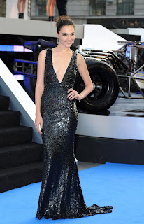Gal Gadot looking hot in a black dress