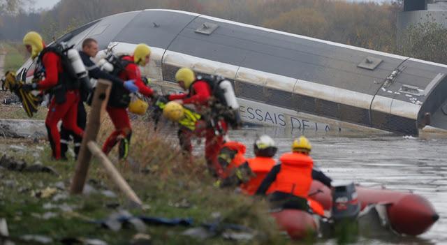 Fotografia de Descarrilamento de TGV em França