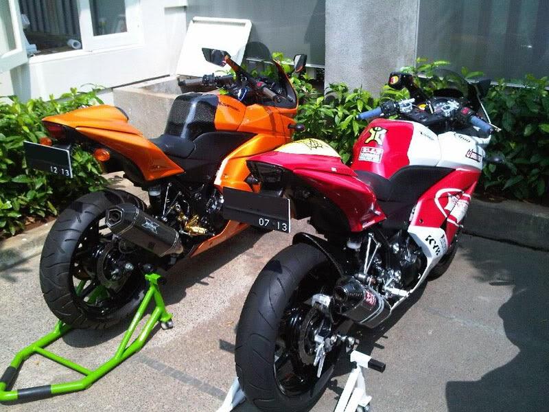 Modifikasi dan Airbrush Kawasaki Ninja 250R Terbaru