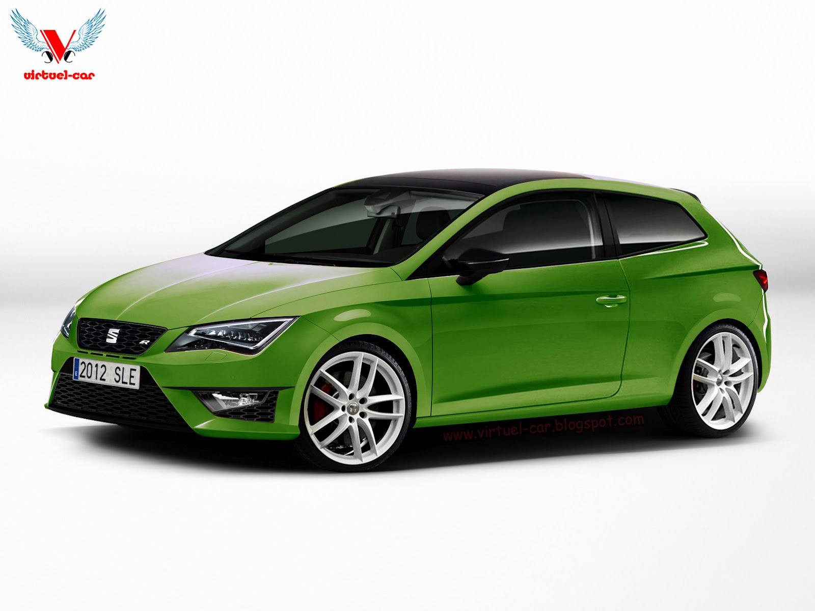 rendering 2013 seat leon cupra r 3 door garage car. Black Bedroom Furniture Sets. Home Design Ideas
