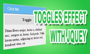 Beberapa Jenis Efek Toggle Dengan Jquery