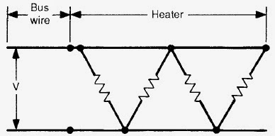 Simplified circuit diagram for a zone-type parallel resistance heater