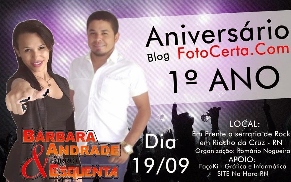 1º ANIVERSÁRIO DO BLOG FOTOCERTA.COM