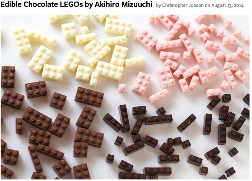 http://www.thisiscolossal.com/2014/08/functional-chocolate-legos-by-akihiro-mizuuchi/