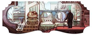 Doodle: Jorge Luis Borges