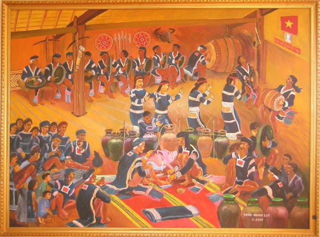 Tác phẩm hội họa về đề tài Tây nguyên 9
