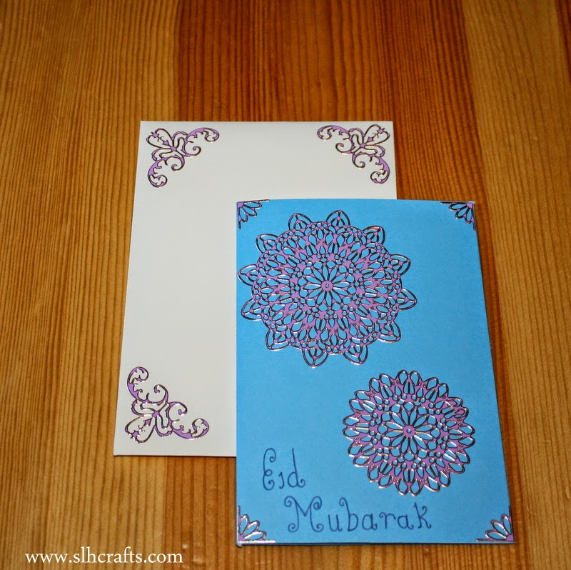 handmade eid cards and candles
