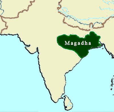 BEGINNING OF MAGADHAN ASCENDANCY AND BEYOND ,MAGADH EMPIRE,MAP,IAS,UPSC,SSC,IBPS,Beginning of Magadhan Ascendancy and beyond  QUICK NOTES FOR IAS PRELIMS -UPSC CIVIL SERVICES EXAM,Beginning of Magadhan Ascendancy and beyond  QUICK NOTES FOR IAS PRELIMS -UPSC CIVIL SERVICES EXAM  1. Magadha kingdom's most remarkable king was Srenika or Bimbisara, who was anointed king by his father at the young age of 15.   2. The capital of Bimbisara's kingdom was Girivraja.It was girded with stone walls which are among the oldest extant stone structures in India.   3. The most notable achievement of Bimbisara was the annexation of neighbouring kingdom of Anga or East Bihar. He also entered into matrimonial alliances with ruling families of Kosala and Vaishali. The Vaishali marriage paved the way for expansion of Magadha northward to the borders of Nepal.   4. Gautama Buddha and Vardhaman Mahavira preached their doctrines during the reign of Bimbisara.   5. The modern town of Rajgir in the Patna district was built by Bimbisara. He had named it Rajagriha or the king's house.   6. Bimbisara was succeeded by his son Ajatshatru. Tradition affirms that Bimbisara was murdered by Ajatshatru.   7. To repel the attacks of the Vrijis of Vaishali, Ajatshatru fortified the village of Pataligrama, which stood at the confluence of Ganga and Sona rivers. This fortress, within a generation, developed into the stately city of Pataliputra (modern day Patna).   8. According to the Puranas, the immediate successor of Ajatshatru was Darsaka, after  whom came his son Udayi.   9. The name of Darsaka also occurs in a play named Svapna-Vasavadatta, attributed to Bhasa, which represents him as a brother-in-law and contemporary of Udayana, king of Kausambi. However, Jain and Buddhist writers assert that Udayi was son of Ajatshatru.   10. Bimbisara's dynastic lineage ended with the Nanda dynasty taking over the reigns of Magadha. The first king of Nanda dynasty was Mahapadma or Mahapamapati Nanda. He was succeeded by his eight sons, of whom the last was named Dhana- Nanda.   11. Dhana-Nanda was overthrown by Chandragupta Maurya, the founder of a new and more illustrious dynasty.   12. Among the State functionaries, the Purohit was of special importance in Kasi-Kosala, as we learn from Ramayan and several Jatakas. In Kuru-Panchal and Matsya countries it was the Senapati who held the special place.   13. The armies of the period usually consisted of infantry, cavalry, chariots and elephants. While rulers of deltaic regions were known to maintain small naval fleets, a big naval department came into being only during the reign of Chandragupta Maurya.   14. The Indian infantry usually carried long bows and iron-tipped arrows made of cane. They used to wear cotton garments. The chariots of the cavalry were drawn by horses or wild asses and carried six soldiers apiece—two bowmen, two shield bearers and two charioteers.   15. Greek writers bear testimony to the fact that in the art of war Indians were far superior to other peoples of Asia. Their failure against foreign invaders was often due to inferiority in cavalry. Indian commanders pinned their faith more in elephants than horses.   16. The oldest source of revenues was the bali. Bhaga, the king's share of reaped corn, became the most important source of State revenue in course of time. Among the most important revenue officials was the Grama-bhojaka or village head-man.   17. The early Buddhist texts refer to six big cities that flourished during the days of the Buddha. These were: Champa (near Bhagalpur), Rajagriha (in Patna district), Sravasti (Saheth- Maheth), Saketa (Oudh), Kausambi (near Allahabad) and Benaras (Varanasi).   18. The usual recreations of women during the Magadhan era were singing, dancing and music. Little princesses used to play with dolls called panchalikas. 19. The chief pastimes of knights were gambling, hunting, listening to tales of war and tournaments in amphitheatres. Buddhist texts refer to acrobatic feats, combats of animals and a kind of primitive chess play.   20. The principal seaports of the period were: Bhrigukachcha (Broach), Surparaka (Sopara, north of Mumbai),and  Tamralipti (Tamluk in West Bengal).   21. The chief articles of trade during the Magadhan era were: silk, muslin, embroidery, ivory, jewellery and gold. The standard unit of value was the copper Karshapana, weighing a little more than 146 grains. Silver coins, called Purana or Dharana, were also in circulation. The weight of a silver coin was a little more than 58 grains, which is one-tenth of that of the Nishka known to the Vedic texts.   22. The first undoubted historical reference to image-worship by an Aryan tribe occurs in passage of Curtis, who states that an image of Herakles was carried in front of Paurava army as it advanced against Alexander.   23. The early Magadhan period saw development of variant languages from Sanskrit. In the towns and the villages a popular form of Sanskrit, Prakrit, was spoken. This had local variations; the chief western variety was called Shauraseni and the eastern variety Magadhi. Pali was another local language. The Buddha, wishing to reach wider audience, taught in Magadhi. Persian and Macedonian Invasions   24. Cyrus, the founder of the Achaemenian empire of Persia, destroyed the famous city of Kapisa near the junction of the Ghorband and Panjshir rivers northeast of Kabul.   25. The successor of Cyrus, Darius sent a naval expedition to the Indus under the command of Skylax. This expedition paved the way for the annexation of the Indus valley as far as the deserts of Rajputana. The area became the most populous satrapy of the Persian empire and paid a tribute proportionately larger than all the rest—360 Eubic talents of gold dust, equivalent to more than a million sterling.   26. Once the Persian hold over Indian possessions became weak, the old territory of Gandhara was divided into two parts. To the west of Indus river lay the kingdom of Pushkalavati in the modern district of Peshawar; to the east was Takshasila in present district of Rawalpindi. Tradition affirms that Mahabharata was first recited in Takshasila.   27. In 331 B.C., Alexander inflicted heavy blows on the king of Persia and occupied his realm. In 327 B.C. Alexander crossed the Hindukush and resolved to recover the Indian satrapies that had once been under his Persian predecessors.   28. To secure his communications, Alexander garrisoned a number of strongholds near modern Kabul and passed the winter of 327-326 B.C. in warfare with fierce tribes of Kunar and Swat valleys.   29. Alexander finally crossed Indus river in 326 B.C. using a bridge of boats. Ambhi, the king of Taxila gave him valuable help in this.   30. Alexander's march faced a major hurdle when it reached the banks of Hydaspes (modern Jhelum) river, near the town of Jhelum. Here he faced stiff resistance from Paurava king (Porus).   31. After crossing the Akesines (Chenab) and the Hydraotes (Ravi), Alexander stormed Sangala, the stronghold of the Kathaioi, and moved on to the Hyphasis (Beas). He wished to press forward to the Ganga valley, but his war-worn troops refused. Alexander erected 12 towering altars to mark the utmost limit of his march, and then retraced his steps to Jhelum.   32. During the return journey, Alexander received a dangerous wound while storming a citadel of the powerful tribe of the Malawas. He returned to Babylon after a long and treacherous journey and died soon after in 323 B.C.   33. The Persian conquest unveiled India for the first time to the Western world and established contact between the people of both regions.   34. The introduction of new scripts—Aramaic, Kharoshti and the alphabet style Yavanani by Panini— can be traced to Greek source.   35. The Macedonian garrisons were swept away by Chandragupta Maurya. However, these were not wiped out completely. Colonies like Yavana continued to serve the king of Magadha just as they served the Macedonians, and carved out an independent kingdom only after the sun set of Magadha.   36. One positive outcome of Alexander's invasion was that Greeks of later ages got to learn lessons in philosophy and religion from Indian Buddhists and Bhagavatas and Indians learned use of coins, honoured Greek astronomers and learned to appreciate Hellenistic art.   37. One of the most remarkable things in the foreign policy of Alexander was his encouragement of inter-racial marriages. He was the first ruler known to history who contemplated the brotherhood of man and the unity of mankind. The White Kafirs of Kafiristan, classed in Ashoka's edicts as definitely Greeks, are said to be descended from Alexander's men. Of the ruling Frontier families, eight claim direct lineage from the son born to Alexander by Cleophis queen of the Assakenoi.