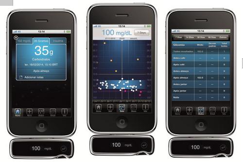 ibg star, iphone, glicemia, medição, aparelho, diabetes, sanofi