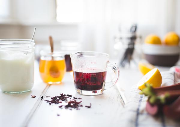 Hibiscus, Rhubarb + Yogurt Ice Pops {plus a cookbook giveaway + edible ...