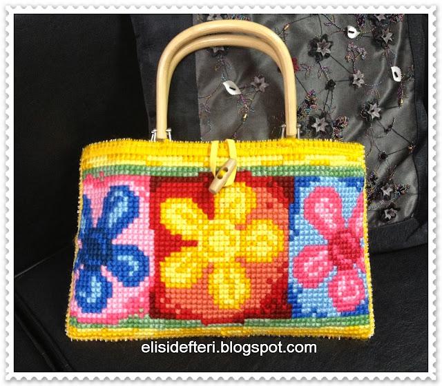 goblen işlemeli çanta