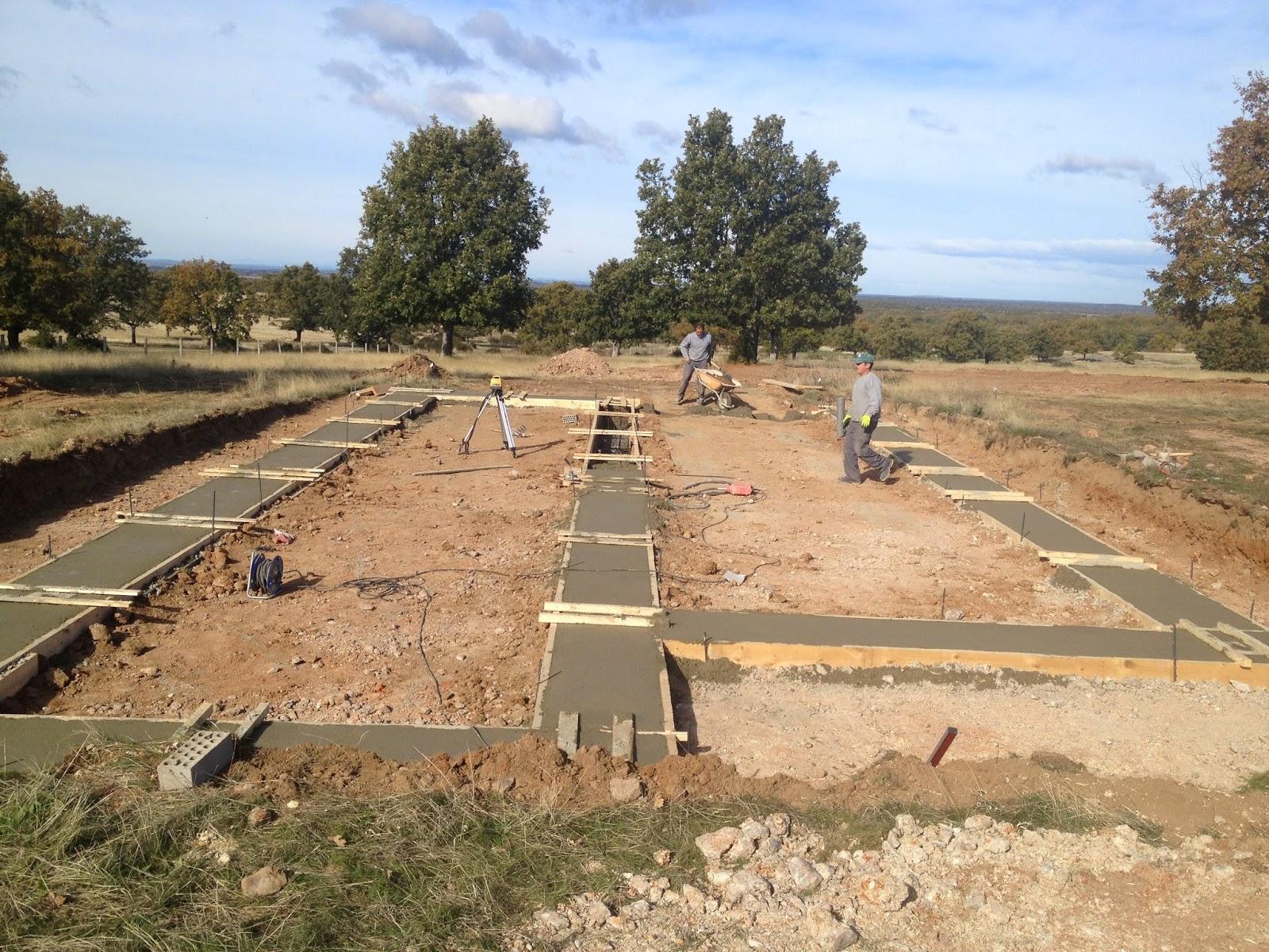 Cimentación vivienda modular Resan en Salamanca