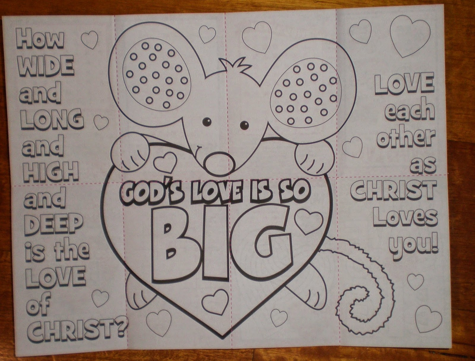 Petersham Bible Book & Tract Depot: God\'s Love is So Big Activity Sheet