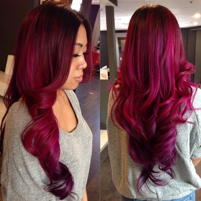 A Month In Hair Colors Today Magenta Shades