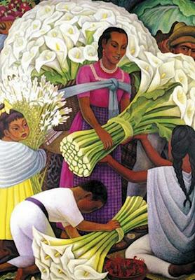 pinturas-mujeres-con-flores-cartuchos