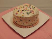 tarta de chocolate y confeti