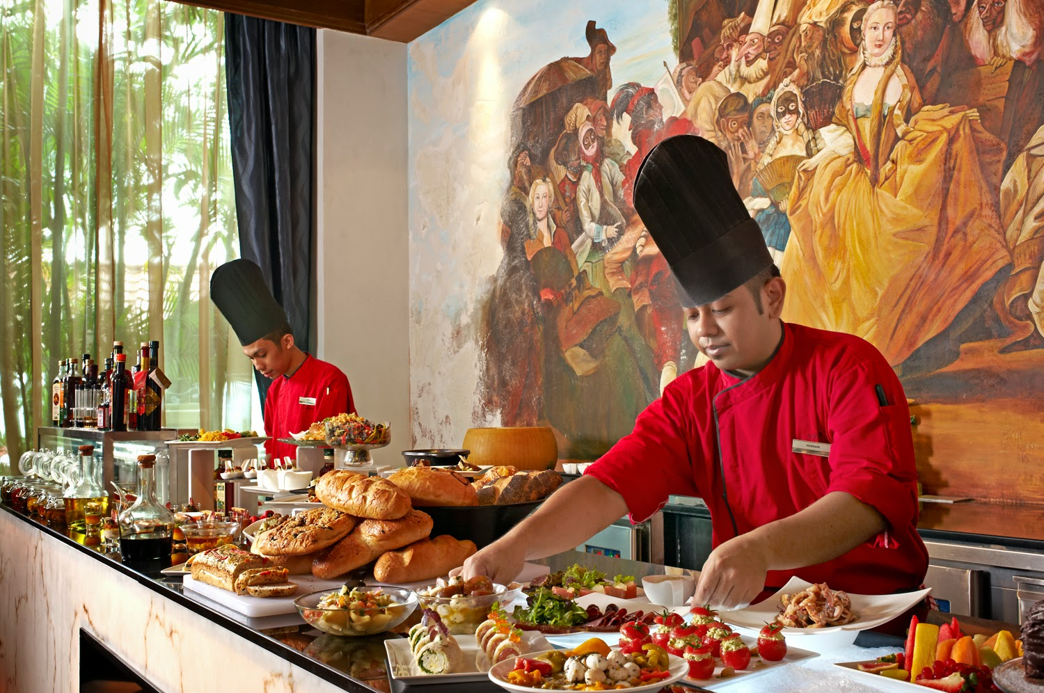 A passion for italian buffet every saturday at favola le for Italian buffet