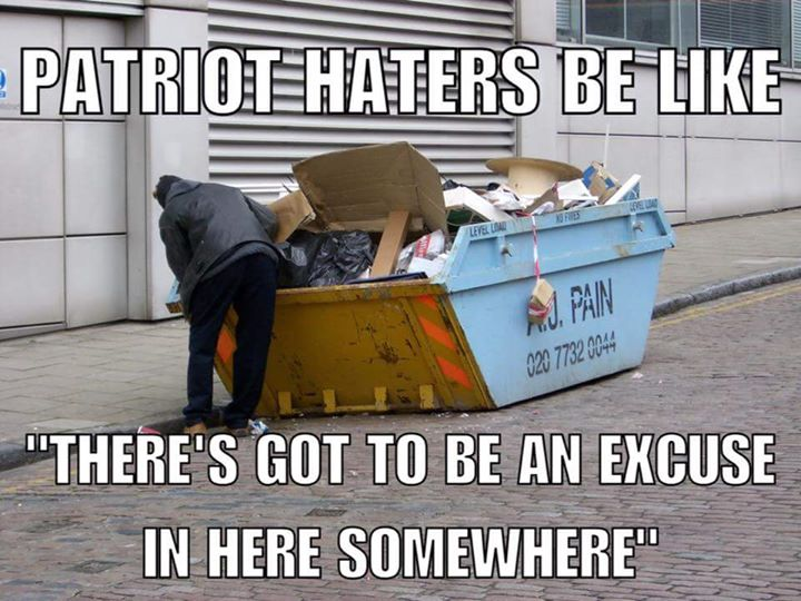 "patriots haters be like ""there's got to be an excuse in here somewhere"" #patriots #excuse #trashcontainer"