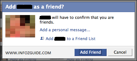 Add As Friend Window