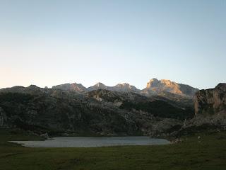 Lago La Ercina en los Lagos de Covadonga