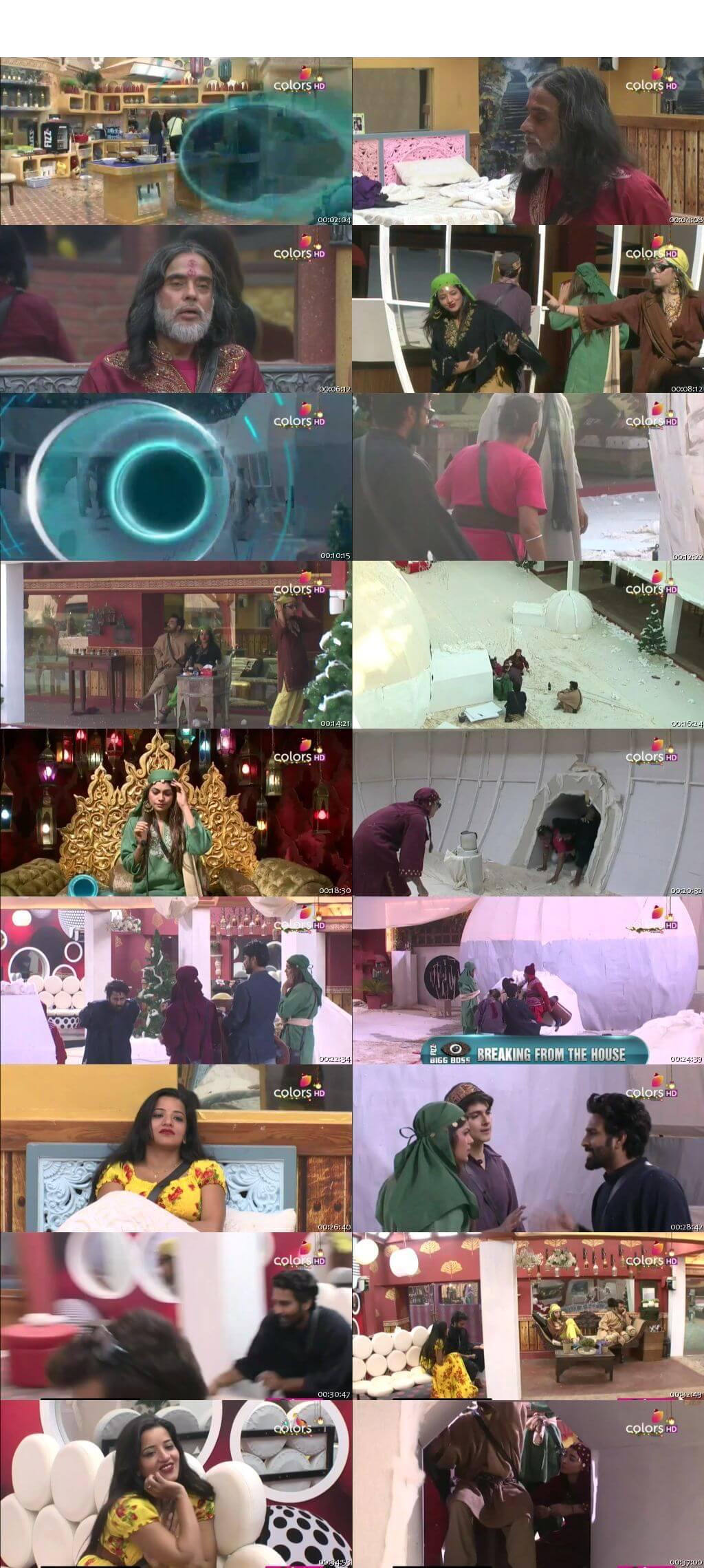 Screenshots Of Hindi Show Bigg Boss 10 27th December 2016 Episode 73 300MB 480P HD