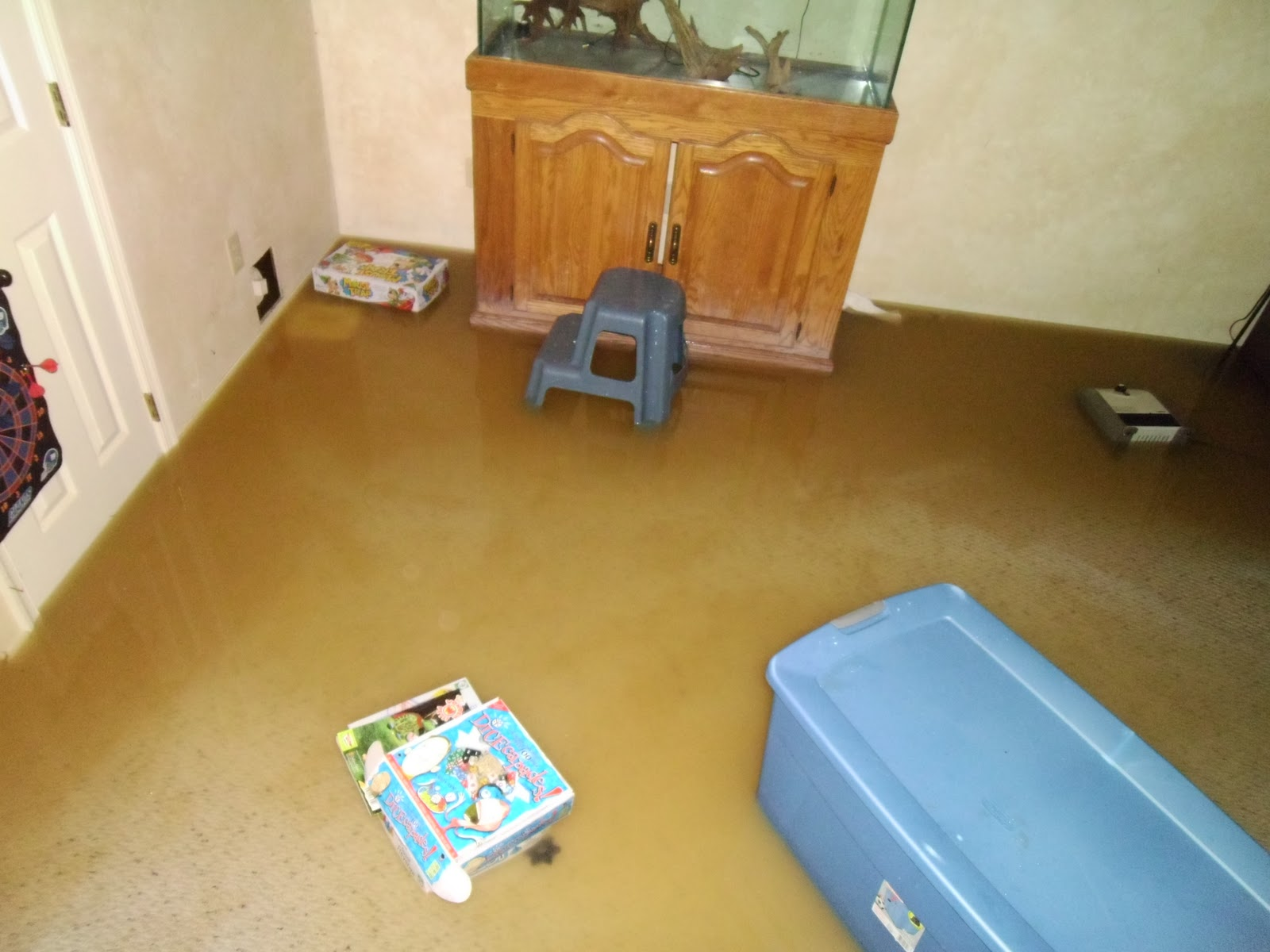 in september and flooded my basement where i did all my hobby work