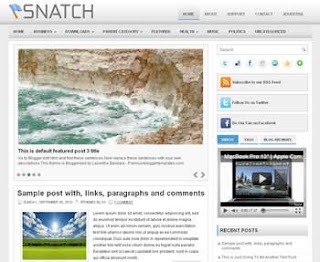 Snatch Blogger Template