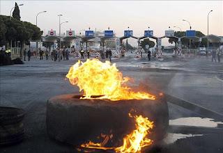 La huelga en España empieza con incidentes aislados y varios heridos