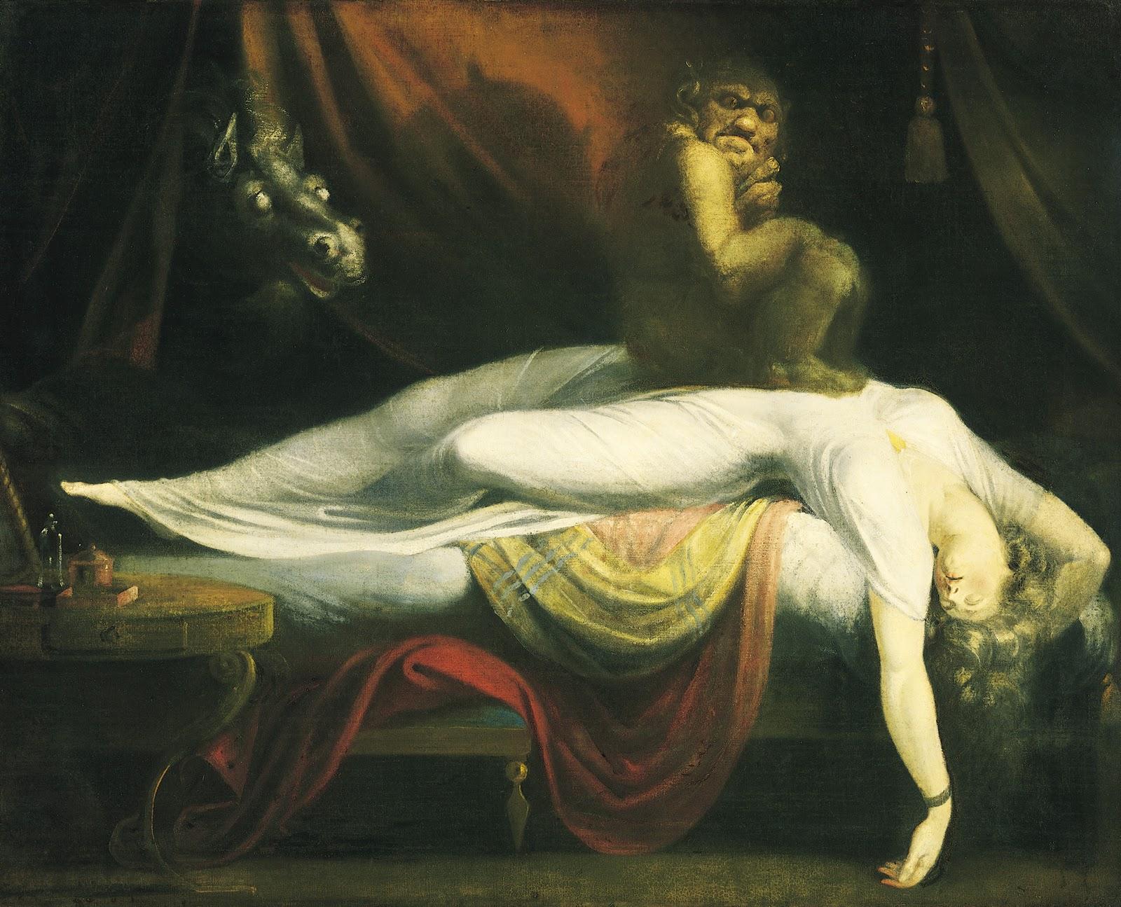 Nightmare, hag-rid, Henry Fuseli 1781.