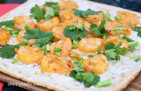... spicy thai shrimp pizza Grilled Thai Sweet and Spicy Shrimp Pizza
