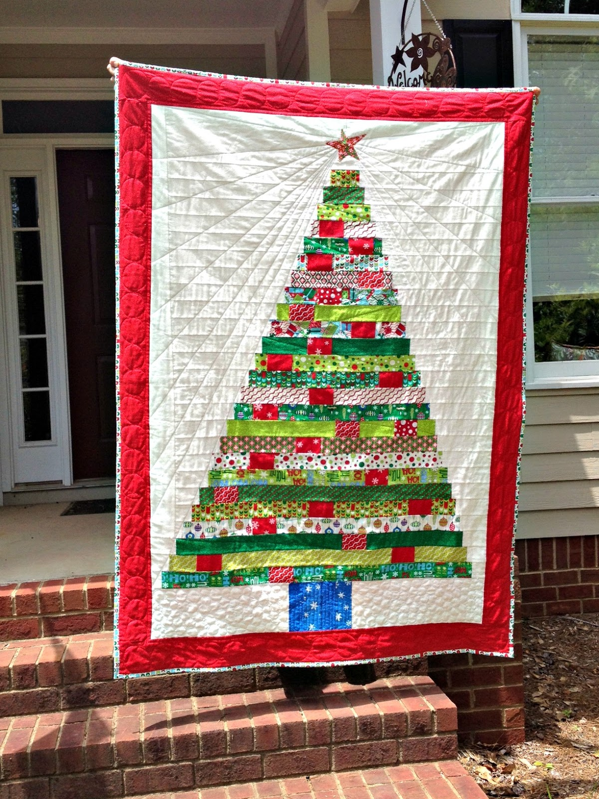 Quilted Christmas Tree Wall Hanging